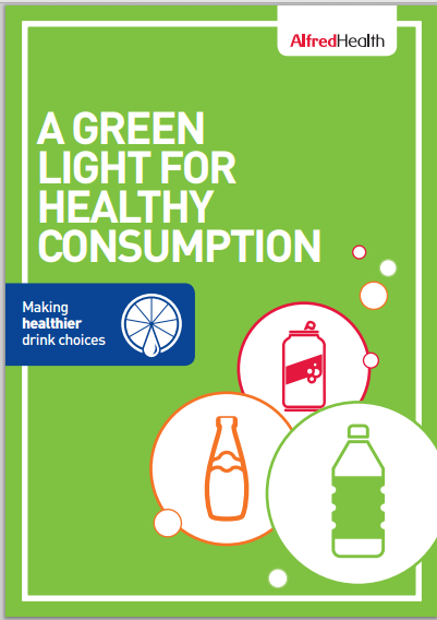 Cover page of 'A green light for healthy consumption infographic'