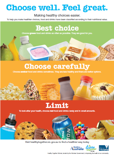 Healthy Choices vending machine poster