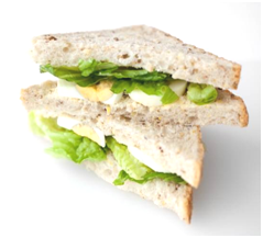Egg and lettuce sandwich