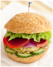 Mighty Valley chicken burger - click here for the recipe