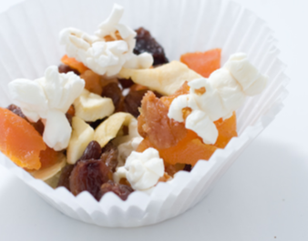 Dried fruit and popcorn