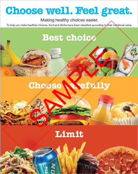 Healthy Choices poster sample