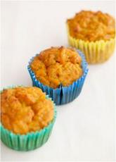 Three carrot muffins