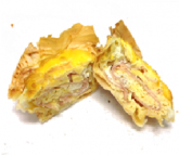 Egg and ham filo cups