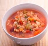 Four bean soup with barley