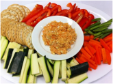Sweet potato and salmon dip