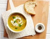 Indian caramelised onion and split pea soup