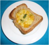 Egg and corn bread cups