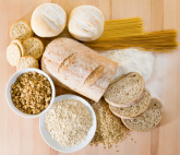 A photo of different types of grains