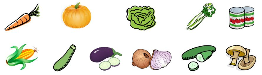 Examples of vegetables